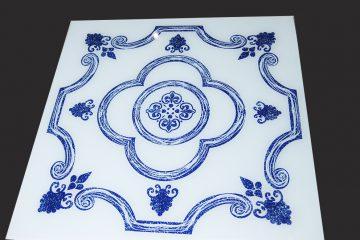 Декор под плитку 595×595 мм (синий)