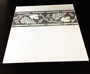 Декор Лоза по краю 295x295 мм (Серебро) матовый фон