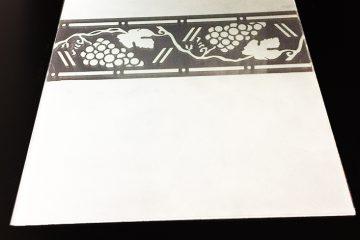 Декор Лоза по краю 295×295 мм (Серебро) матовый фон