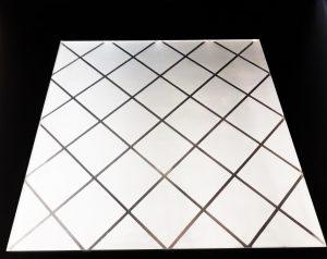 Декор Ромбик 295x295 мм (Серебро) матовый фон
