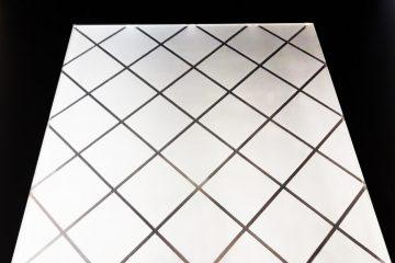 Декор Ромбик 295×295 мм (Серебро) матовый фон