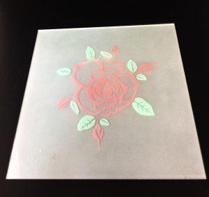 Декор Роза (цветная) 295x295 мм