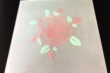 Декор Роза (цветная) 295×295 мм