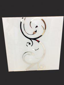 Декор № 0108/2 595x595 мм (Серебро) матовый фон прямой элемент