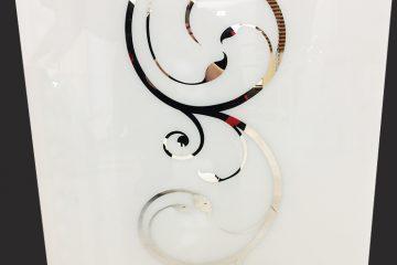Декор № 0108/2 595×595 мм (Серебро) матовый фон прямой элемент