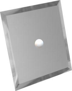 Зеркало Серебро фацет 295х295 с отверстием 75мм под светильник