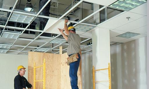 Демонтаж подвесного потолка Армстронг